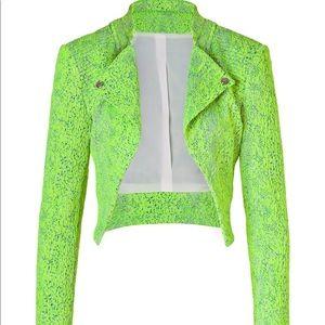 Faith Connecxion Fluro Reptile Brocade Jacket Sz 6